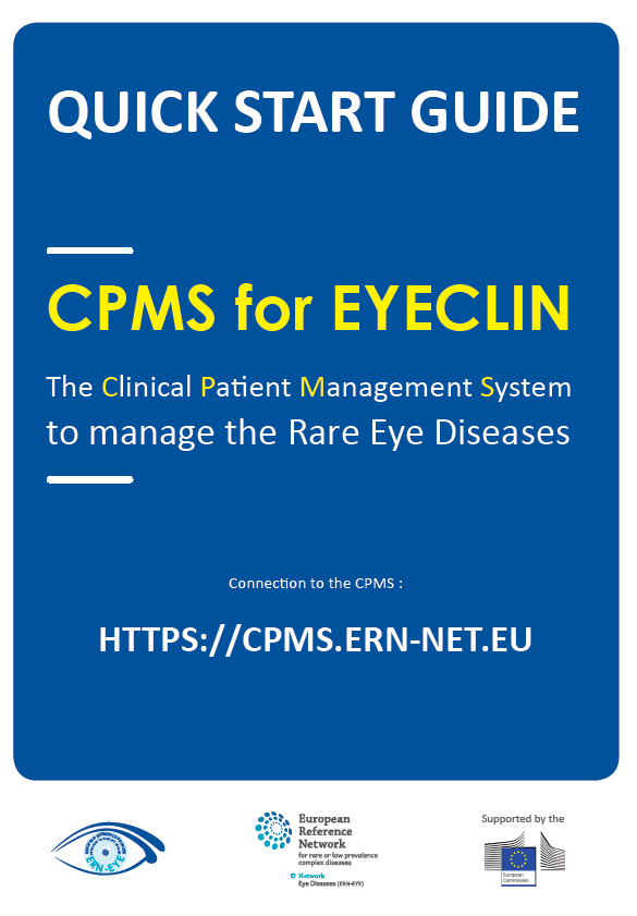 Quick Start Guide CPMS for EYECLIN
